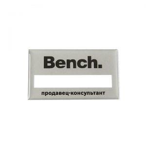 бейдж с полимерной заливкой Bench