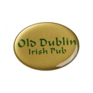 бейдж с полимерной заливкой Old Dublin