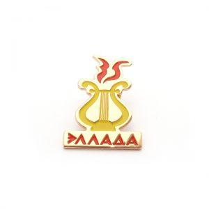 значок металлический штамповка эмали эллада