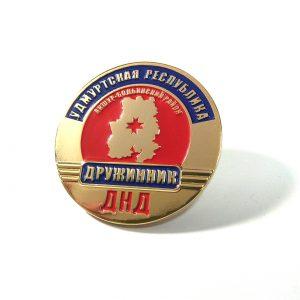 значок металлический штамповка эмали удмуртская республика
